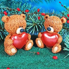 Brown bear with a heart 3D soap
