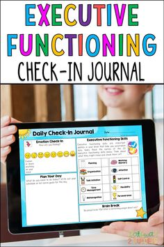 A daily executive functioning check-in journal that covers it all! It starts with an emotions check-in, following by a spot to plan your day. Students will then learn a little about executive functioning skills for success before finishing with a brain break. It is a complete set for the full year to help kids and teens learn the skills they need! Writing Goals, Working Memory, Executive Functioning, Student Success, Planning Your Day, Study Skills, Self Control, Brain Breaks, Help Kids