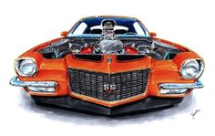 """vs-design: """"Chevrolet Camaro 71′ 636 (2011) """""""