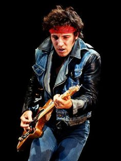 """Bruce Springsteen during the """"Born in the U.S.A."""" tour, 1984."""
