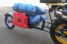 moto-mule a cargo trailer to pull behind your dual sport motorcycle - Page 33 - ADVrider Honda Grom, Honda Cub, Motorcycle Camping, Camping Car, Pull Behind Motorcycle Trailer, Three Wheel Bicycle, Cargo Trailers, Dual Sport, Quad
