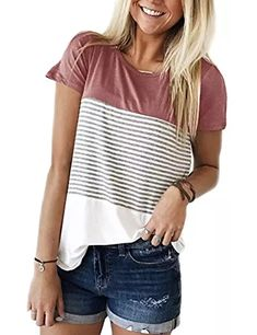 Coco-Z 2019 New Womens Summer Ladies Short Sleeve Solid Scoop Neck Blouse Shirt Pullover Tunic Tops