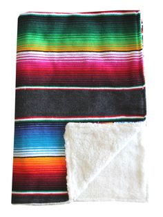 Baja Baby™ Mexican Serape Baby Blanket -Slate