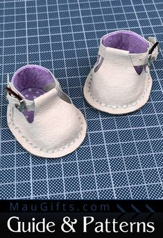 """Patterns & Step-by-Step Instructions for Doll T-strap Shoes with Buckles & Socks - How to make shoes the easiest way possible. - All the tools you can use if you decide and from where to purchase them cheap with free worldwide shipping. The patterns will give you the perfect base to build on using your style and vision. The patterns are for Waldorf Dolls: 12""""(30cm.) & 17""""(43cm.) but can be handy for any other doll. Doll Shoe Patterns, T Strap Shoes, How To Make Shoes, Waldorf Dolls, Doll Shoes, Step By Step Instructions, Sewing Tutorials, Leather Shoes, Doll Clothes"""