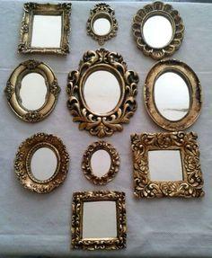 Espelhos Frame Wall Decor, Frames On Wall, Mirror Shop, Wall Mirror, Spanish Home Decor, Shabby Chic Mirror, Small Entryways, Old Mirrors, Living Room Mirrors