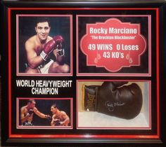 Rocky Marciano Signed Boxing Glove