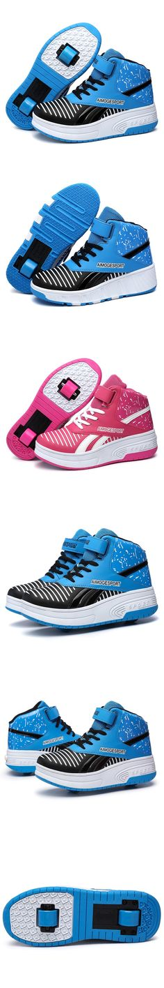 Heelys Fashion Children PU Leather Kids Sneakers Roller Skates Sport Casual  With Wheel Shoes For Chid And Adult 8eba1cb43