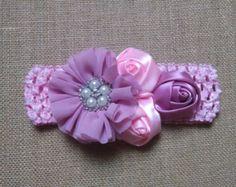 Bebé niña diadema diadema flor diadema por GloriaMillerCreation