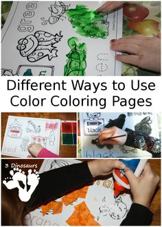 Different Ways to Use Color Coloring Pages - 3Dinosaurs.com