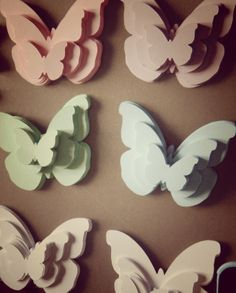 paper butterflies - farfalline di carta