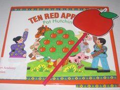 Counting ten red apples for preschool math from Teach Preschool