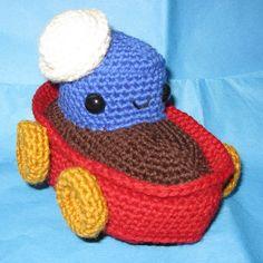 "Little Tugboat Amigurumi. Pattern in ""Amigurumi Toy Box: Cute Crocheted Toys"" by Ana Paula Rimoli :)"