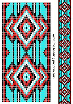 Native american chart, good for a seed bead pattern                                                                                                                                                     Más