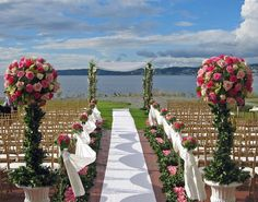 Blossoming Blessings, Connecticut Wedding Florist, specializing in wedding flowers, bridal bouquets, wedding centerpieces.Flowers for wedding ceremony and reception. Elegant wedding bouquets at affordable prices. Wedding Set Up, Seaside Wedding, Cute Wedding Ideas, Elegant Wedding, Wedding Flowers, Dream Wedding, Beach Weddings, Wedding Dresses, Outdoor Ceremony