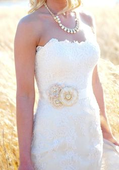 Custom floral bridal sash