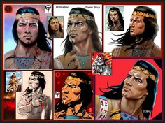 Winnetou- Pierre Brice - fan art by Tora 2017