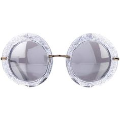 a382bb142e89 Pre-owned Dolce   Gabbana 2017 Glitter Round Sunglasses ( 225) ❤ liked on