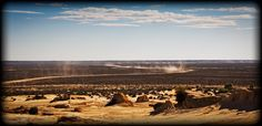 Cycling in the outback, Mungo NP