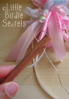 how to make a fairy princess ribbon wand
