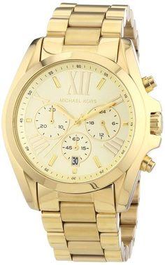 Michael Kors Bradshaw Chronograph Gold-tone Unisex Watch MK5605 Michael Kors http://www.amazon.com/dp/B00745LI82/ref=cm_sw_r_pi_dp_xK5.tb0X3KKJE
