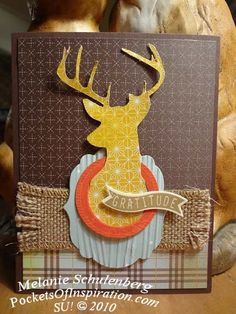 Harvest deer - WOW - the Remembering Christmas SU stamp set has this awesome deer for dude cards!