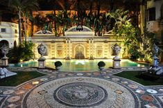 He lined the pool with 24-karat gold tiles. - TownandCountrymag.com