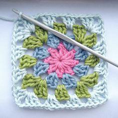 summer garden granny square amigurumi crochet pattern