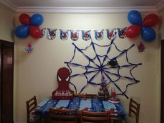 spiderman theme for birthday party