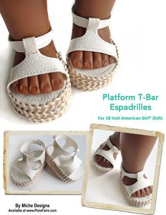 Platform doll shoe Pattern from Miche Designs