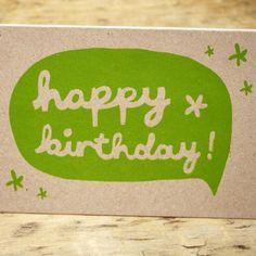 Handprinted Happy Birthday Card