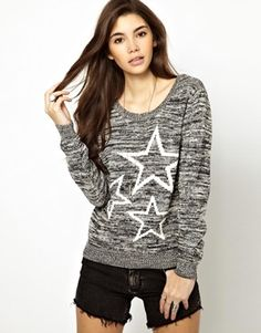Only Star Print Jumper