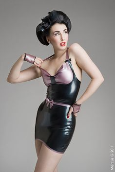 Rosetta mini latex dress by NauclerDesign on Etsy, kr1300.00