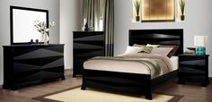 Shop for Clean Metro Modern Panel Espresso Twin/Full/Queen/King Bedroom Set. Get free delivery On EVERYTHING* Overstock - Your Online Furniture Shop! King Bedroom Sets, Queen Bedroom, Master Bedrooms, Black Queen Bed, Wood Bed Design, Coaster Fine Furniture, Furniture Styles, Modern Bedroom, Home Furnishings