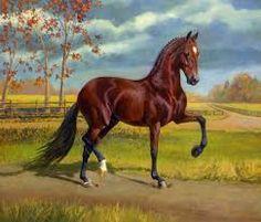 Resultado de imagen para paisajes con caballos al oleo