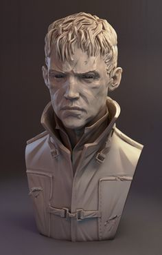 I got some excellent crits and feedback on the last Outsider sculpt a few days back so I spent a bit longer with him and the new version of Zbrush (which is awesome btw). I seem to learn lots going back over my work after a few days with a critical eye, the trick as always, is knowing when to stop…Here's the old version for anyone who missed it.