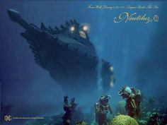 Under the ocean Jules Verne, Fantasy Images, Sci Fi Fantasy, Dirigible Steampunk, What Is An Artist, Nautilus Submarine, Nautical Interior, Under The Ocean, Leagues Under The Sea