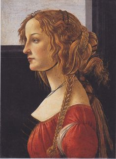 Portrait of a young woman by Botticelli c. 1480.