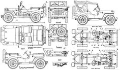 67 best blueprints cars images on pinterest cars art drawings willys mb blueprints willys mbford modelscar accessoriesmodel malvernweather Images