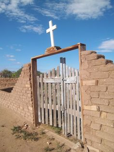 Gate to cemetery at Taos Pueblo