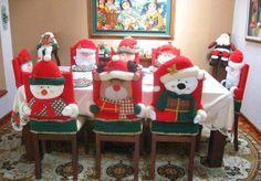 capas de cadeiras natalinas - Pesquisa Google