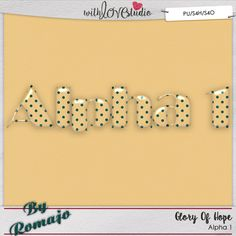 Glory of Hope, Alpha 1 from Designs by Romajo perfect for digital or hybrid  scrapbooking, These fun alphas can be used in lots of fun creative projects.