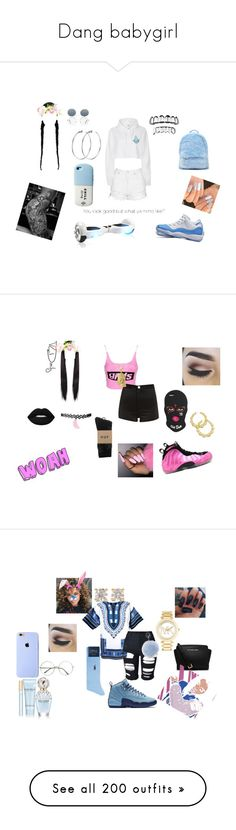 """Dang babygirl"" by yfnniyalucci ❤ liked on Polyvore featuring Topshop, River Island, Forever 21, NIKE, Stay Home Club, DKNY, Alexander Wang, HUF, Thalia Sodi and Lime Crime"