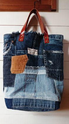 Denim Handbags, Denim Tote Bags, Denim Purse, Denim Patchwork, Patchwork Bags, Handmade Handbags, Handmade Bags, Diy Bags Purses, All Jeans