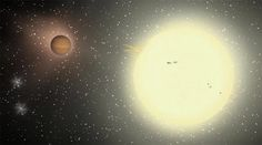 The largest exoplanet ever discovered is also one of the strangest and theoretically should not even exist, scientists say. Dubbed TrES-4, the planet is about 1.7 times the size of Jupiter and belongs to a small subclass of so-called puffy planets that have extremely low densities. The planet is located about 1,400 light years away from Earth and zips around its parent star in only three and a half days.