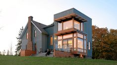 Farmhouse Addition by Plant Architect Interesting mix of old and modern...not sure if I like it.