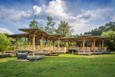 bamboo, bamboo playhouse, kuala lumpur, malaysia, malaysian architecture, elena jamil architect, marc tey, architecture, treehouse, wakaf, perdana botanical garden, community playhouse, park playhouse