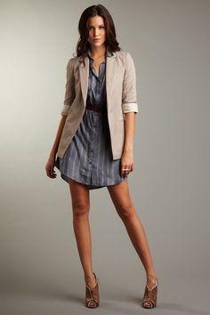 Blazer and shirt dress