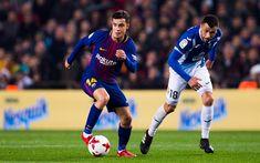 Download wallpapers Coutinho, 2018, match, FC Barcelona, footballers, FCB, La Liga, Barca, soccer, Philippe Coutinho, Barcelona, Phil Coutinho, LaLiga, Barcelona FC