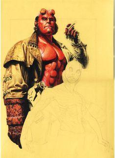 Hellboy in progress by Buchemi on DeviantArt