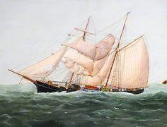 John Fairbairn Fannen (1847-1907) - The Brigantine Henry of Guernsey, 1886